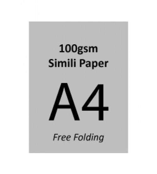 A4 Flyer - 100gsm Simili Paper