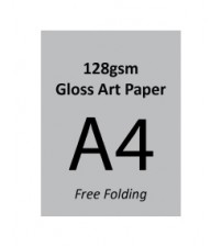 A4 Flyer - 128gsm Gloss Art Paper (2 Side Print,Free Folding)