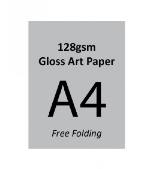 A4 Flyer - 128gsm Gloss Art Paper (1 Side Print,Free Folding)