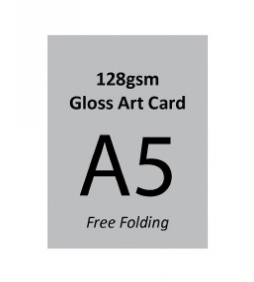 A5 Flyer - 128gsm Gloss Art Paper (2 Side Print,Free Folding)