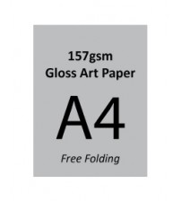 A4 Flyer - 157gsm Gloss Art Paper (2 Side Print,Free Folding)