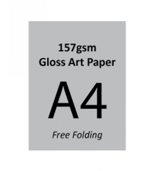 A4 Flyer - 157gsm Gloss Art Paper (1 Side Print,Free Folding)