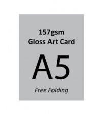 A5 Flyer - 157gsm Gloss Art Paper (1 Side Print,Free Folding)- FREE DELIVERY PENINSULAR MALAYSIA