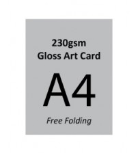 A4 Flyer - 230gsm Gloss Art Card (Free Folding)- FREE DELIVERY PENINSULAR MALAYSIA