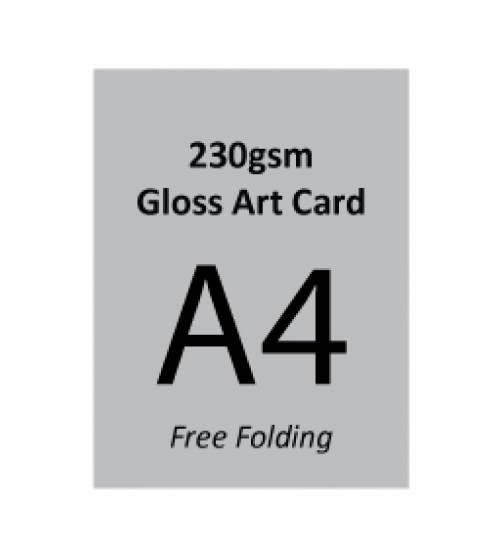 A4 Flyer - 230gsm Gloss Art Card (Free Folding)