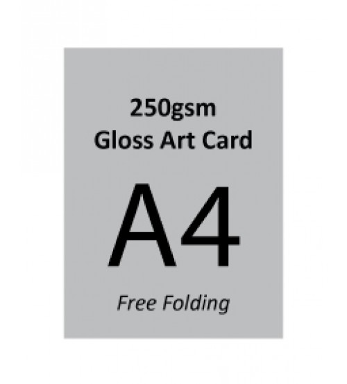 A4 Flyer - 250gsm Gloss Art Card (Free Folding)- FREE DELIVERY PENINSULAR MALAYSIA