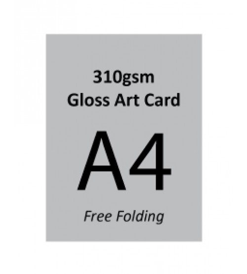 A4 Flyer - 310gsm Gloss Art Paper (Free Folding)- FREE DELIVERY PENINSULAR MALAYSIA