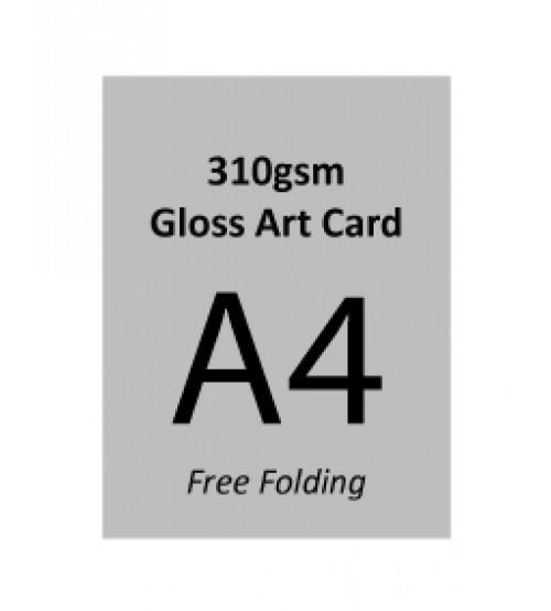 A4 Flyer - 310gsm Gloss Art Paper (Free Folding)