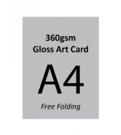 A4 Flyer - 360gsm Gloss Art Card (Free Folding)