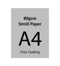 A4 Flyer - 80gsm Simili Paper (2 Side Print,Free Folding)