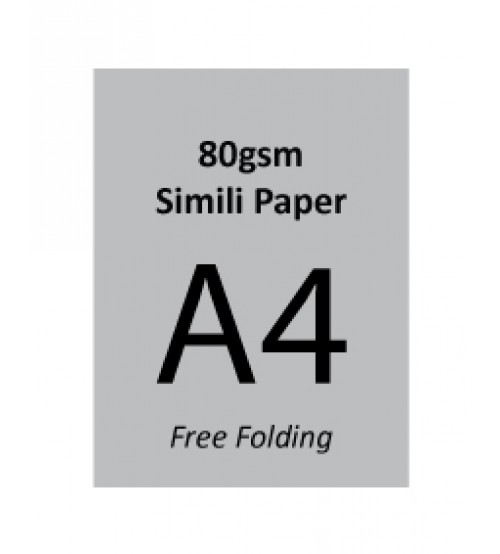 A4 Flyer - 80gsm Simili Paper (1 Side Print,Free Folding)