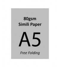 A5 Flyer - 80gsm Simili Paper (2 Side Print,Free Folding)