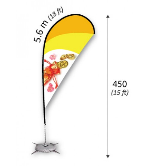 Teardrop Flag 5.6m (XL)