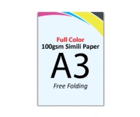 A3 Flyer 100gsm Simili Paper (Free Folding) - FREE DELIVERY PENINSULAR MALAYSIA