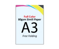 A3 Flyer 80gsm Simili Paper (Free Folding) - FREE DELIVERY PENINSULAR MALAYSIA