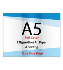 A5 Leaflet / Brochure - 128gsm Gloss Art Paper (1 Side Print,4 Folding) - FREE DELIVERY PENINSULAR MALAYSIA