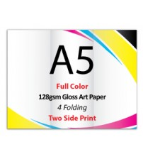 A5 Leaflet / Brochure - 128gsm Gloss Art Paper (2 Side Print,4 Folding) - FREE DELIVERY PENINSULAR MALAYSIA