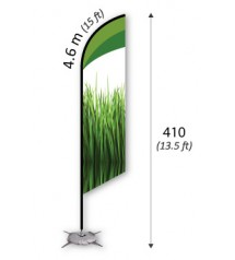 Feather Flag 4.6m (L)------------------- FREE DELIVERY PENINSULAR MALAYSIA
