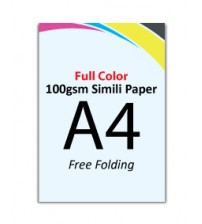 A4 Flyer 100gsm Simili Paper (Free Folding) - FREE DELIVERY PENINSULAR MALAYSIA