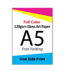 A5 Flyer - 128gsm Gloss Art Paper (1 Side Print,Free Folding)- FREE DELIVERY PENINSULAR MALAYSIA