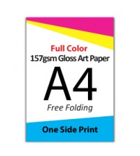 A4 Flyer - 157gsm Gloss Art Paper (1 Side Print,Free Folding)- FREE DELIVERY PENINSULAR MALAYSIA