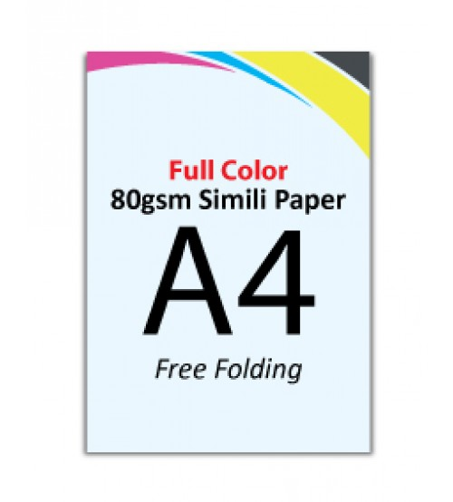 A4 Flyer 80gsm Simili Paper (Free Folding) - FREE DELIVERY PENINSULAR MALAYSIA