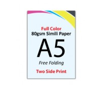 A5 Flyer - 80gsm Simili Paper (2 Side Print,Free Folding)- FREE DELIVERY PENINSULAR MALAYSIA