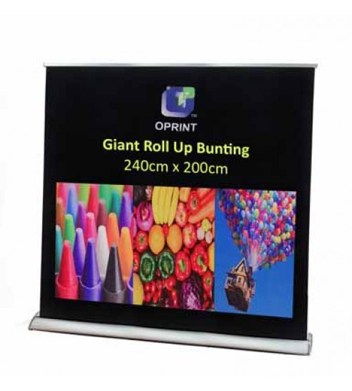 Giant Roll Up Bunting - 240cm (W) X 200cm (H)  ---------- FREE DELIVERY PENINSULAR MALAYSIA