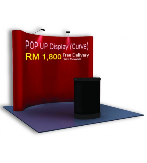 Pop Up Display - 3 X 3 Curve ---------------------- FREE DELIVERY PENINSULAR MALAYSIA