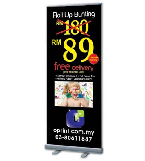 Roll Up Bunting -80cm (W) x 200cm (H) --------- FREE DELIVERY PENINSULAR MALAYSIA